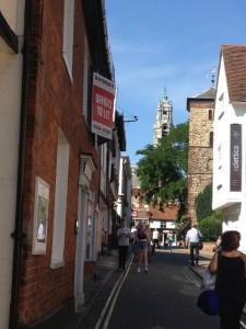 La tour du Town Hall vue depuis Trinity Church