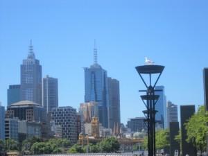 Quartier de Southbank à Melbourne, à côté du Crown Casino, le long de la Yarra River.