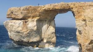 La fenêtre d'Azur, à Malte sur l'île de Gozo.