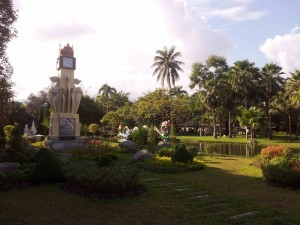Le jardin de Suan Buak Haad Park, à Chiang Mai