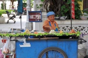 Une vendeuse de rue
