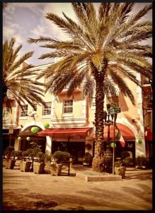 Un bâtiment sur Española Way, une des rues touristiques de Miami Beach.