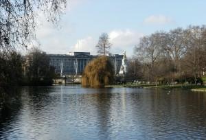 Saint James's Park est le plus ancien des huit parc royaux de Londres. Il se situe a proximité du Horse Guards et de Buckingham Palace. Il possede un grand lac doté de deux iles et abrite de nombreuses espèces de canards ainsi que des pélicans !