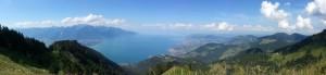Vue du lac léman depuis le Rocher de Naye_CH