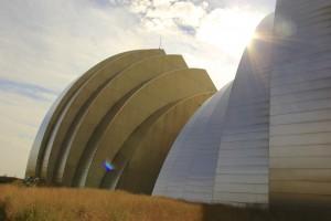 Le Kauffman Center theater, un batiment fini en 2011 : un monstre de technologie : 360 millions de $ et pas un sous public fédéral : c'est une fondation