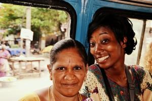 Un rickshaw collectif à Pondicherry (moyen de transport en commun)