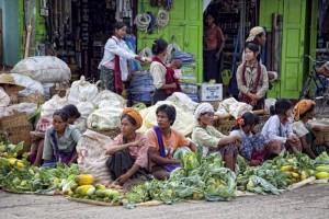Un marché en Birmanie