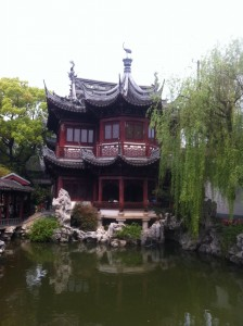 Photo d'un temple à Shanghai.