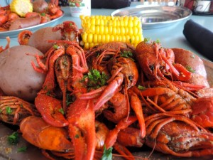 Un plat de crawfish