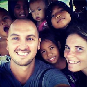 Selfie avec des enfants cambodgiens!