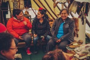 Rencontre avec des indigènes à Saguenay au Québec