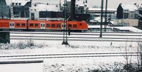 La vue depuis ma chambre, en hiver. Des trains et des usines, typiquement Ruhrpott