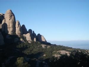 Le massif du Montserrat à côté de Barcelone