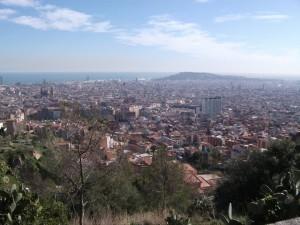 Une vue sur Barcelone depuis le parc Guinardo.