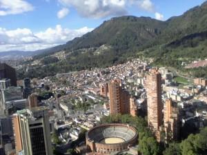Vue sur Bogota depuis la tour Colpatria