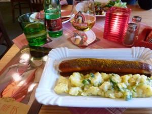 Bière et saucisse, tout premier repas berlinois