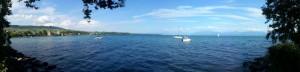 Rolle et le Lac Léman, en Suisse
