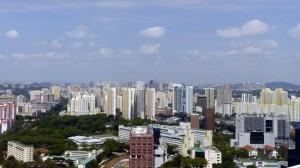 Vue de Singapour depuis le toit du Pinnacle