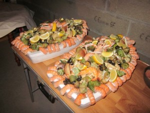 Bâteau fruits de mer de la nouvelle année