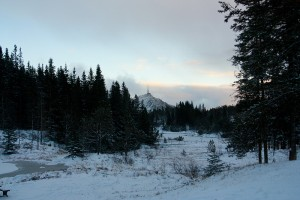vue sur Ulriken depuis Floyen Blamanen