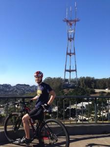 Sylvain en haut de Twin Peaks