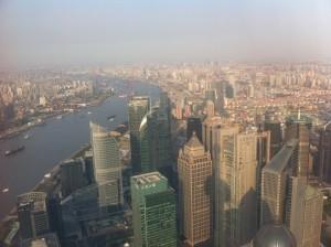 Vue depuis l'une des plus hautes tour de Shanghai.