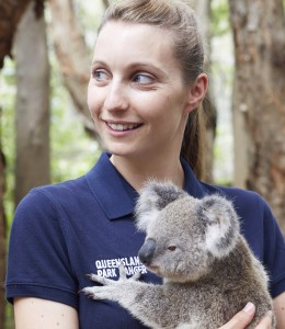 Portrait with Lady Elliot the koala