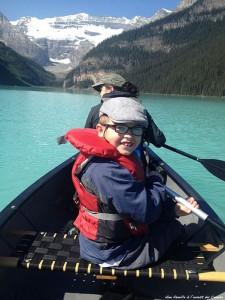 Canoe sur le lac Louise
